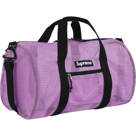 Mesh Duffle Bag Purple