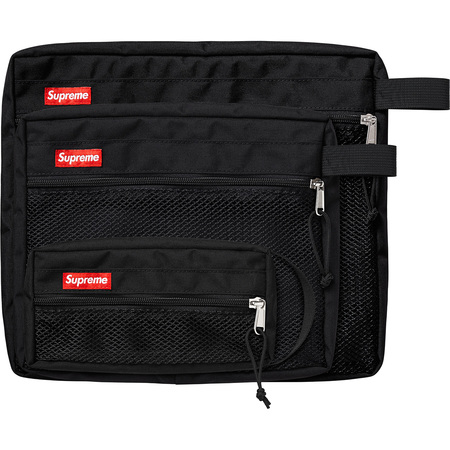 Mesh Organizer Bags (Set of 3) (Black)