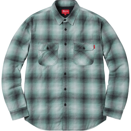 Quilted Shadow Plaid Shirt (Green)