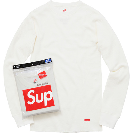 Supreme/Hanes® Thermal Crew (1 Pack) (Off White)