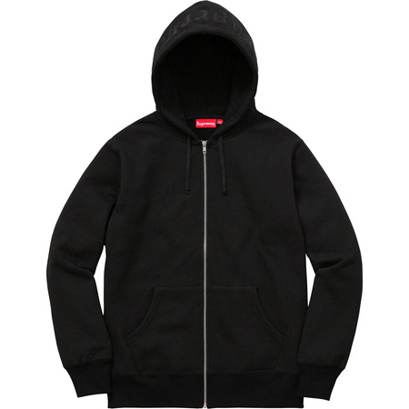 Old English Hood Logo Zip Up Sweat (Black)