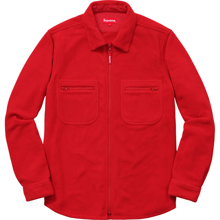 Polartec® Fleece Zip Up Shirt (Red)