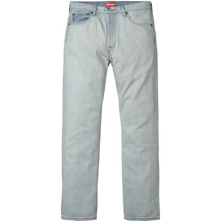 Supreme®/Levi's® Bleached 501 Jeans (Bleached Blue)