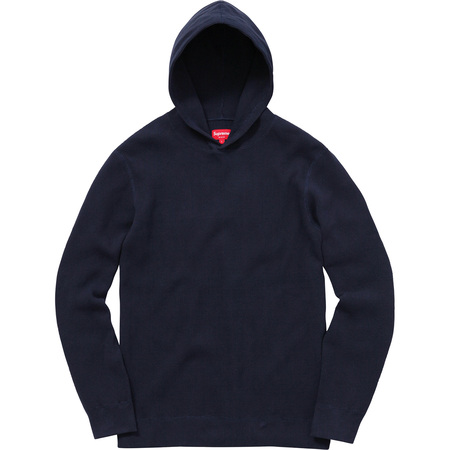 Hooded Waffle Thermal (Navy)