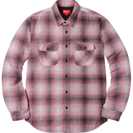 Quilted Shadow Plaid Shirt (Pink)