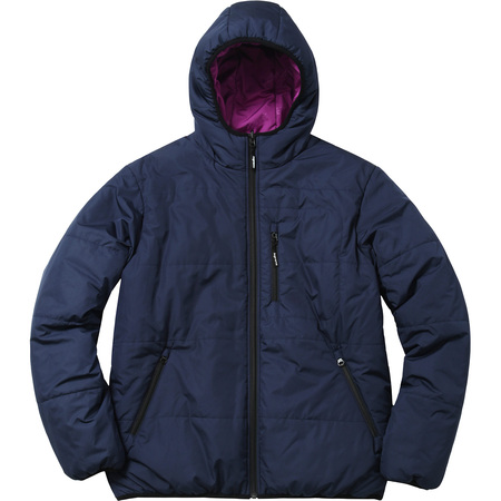 Reversible Hooded Puffy Jacket (Navy)