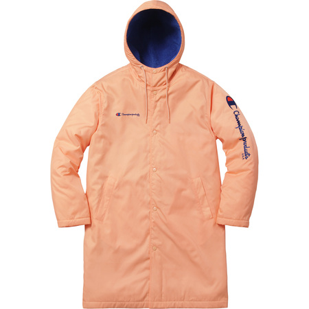 Hooded leather parka supreme