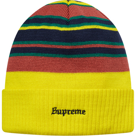 Multi Stripe Beanie (Yellow)