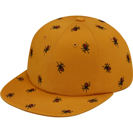 Embroidered Spiders 6-Panel (Gold)