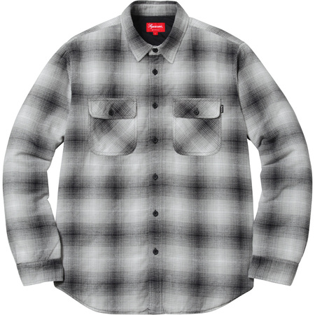 Quilted Shadow Plaid Shirt (Black)