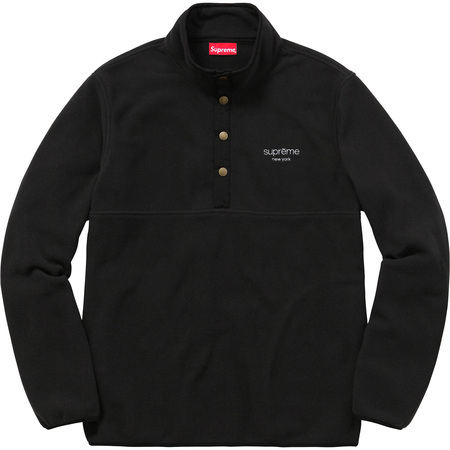 Polartec® Fleece Color Blocked Half Snap (Black)