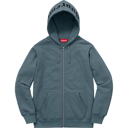 Old English Hood Logo Zip Up Sweat (Slate)