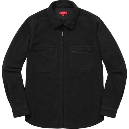 Polartec® Fleece Zip Up Shirt (Black)
