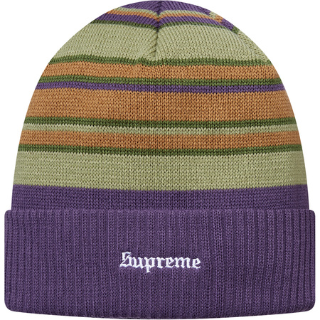 Multi Stripe Beanie (Purple)