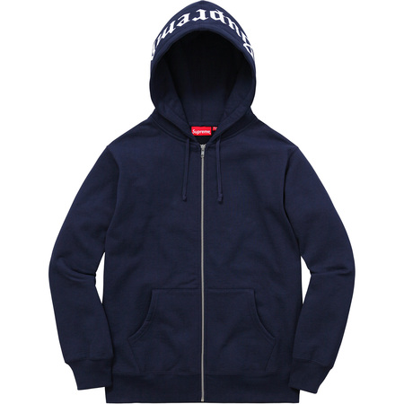 Old English Hood Logo Zip Up Sweat (Navy)