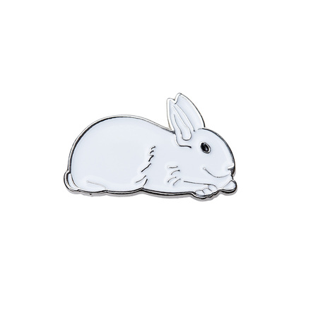 White Rabbit Pin (White)