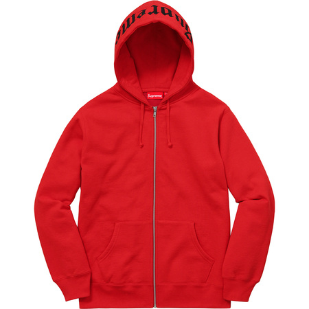 Old English Hood Logo Zip Up Sweat (Red)
