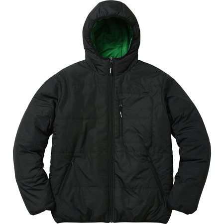 Reversible Hooded Puffy Jacket (Black)