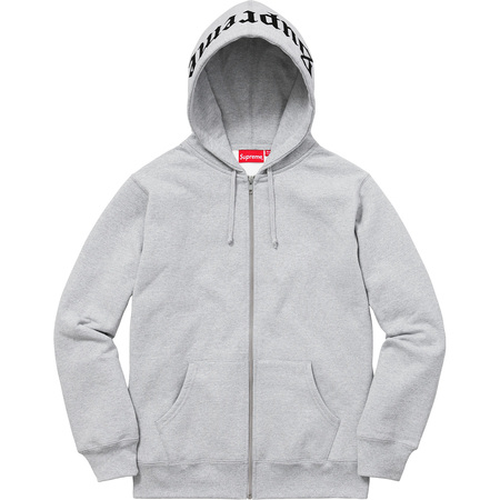 Old English Hood Logo Zip Up Sweat (Heather Grey)