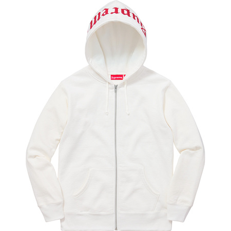 Old English Hood Logo Zip Up Sweat (White)