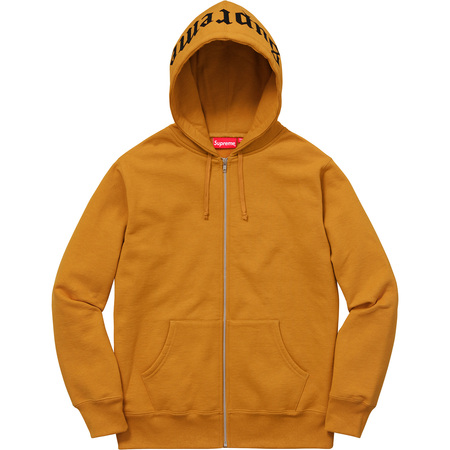 Old English Hood Logo Zip Up Sweat (Gold)