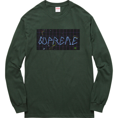 Blade Grid L/S Tee (Dark Green)
