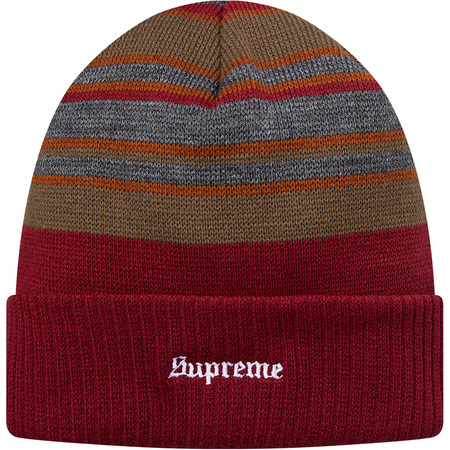 Multi Stripe Beanie (Burgundy)