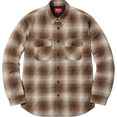 Quilted Shadow Plaid Shirt (Gold)
