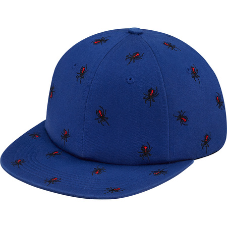 Embroidered Spiders 6-Panel (Royal)