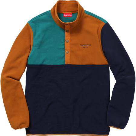 Polartec® Fleece Color Blocked Half Snap (Navy)