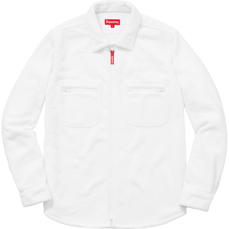 Polartec® Fleece Zip Up Shirt (White)