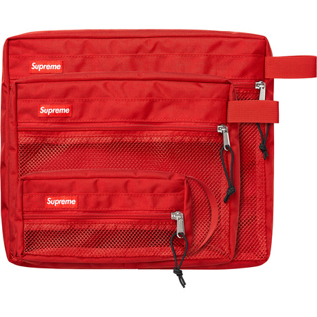 Mesh Organizer Bags (Set of 3) (Red)