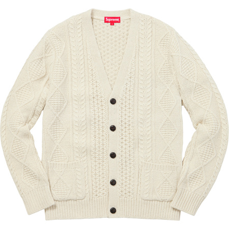 Cable Knit Cardigan (Natural)