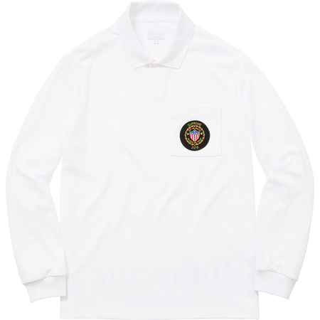 Sideline L/S Polo (White)