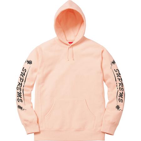 Rose Hooded Sweatshirt (Peach)