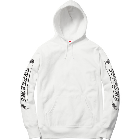 Rose Hooded Sweatshirt (White)
