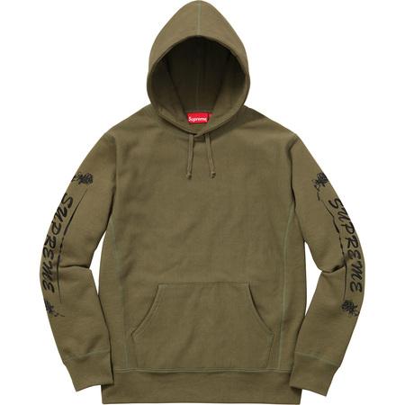 Rose Hooded Sweatshirt (Olive)