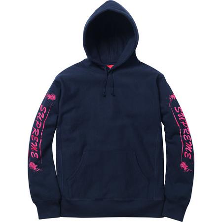 Rose Hooded Sweatshirt (Navy)