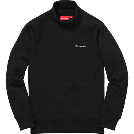Turtleneck Collar Crewneck (Black)