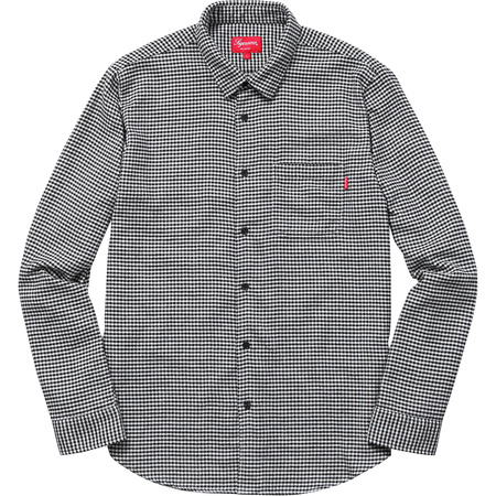 Houndstooth Flannel Shirt (White)