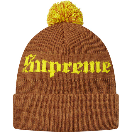 Old English Beanie (Brown)