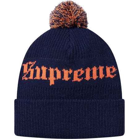 Old English Beanie (Navy)