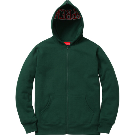Split Hood Zip Up Sweat (Dark Green)