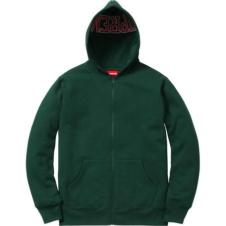Split Hood Zip Up Sweat (Dark Green)