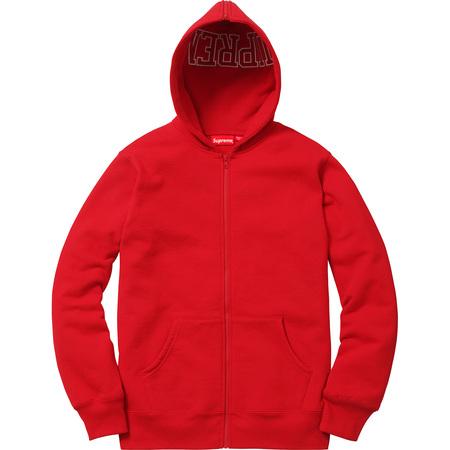 Split Hood Zip Up Sweat (Red)