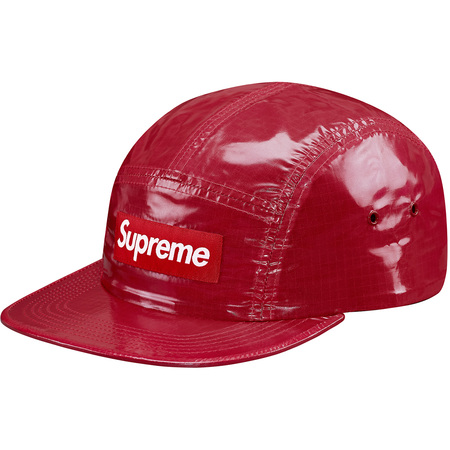 Glossy Ripstop Camp Cap (Red)