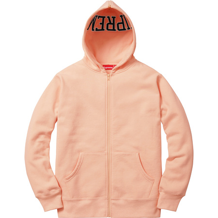 Split Hood Zip Up Sweat (Peach)