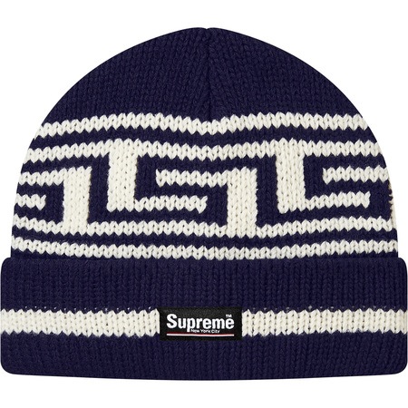Meandros Ragg Wool Beanie (Navy)