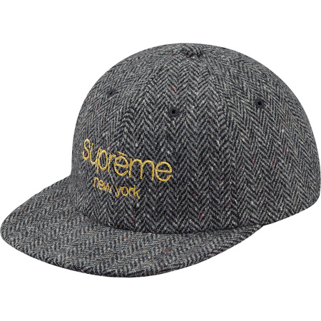 Wool Herringbone Classic Logo 6-Panel (Black)