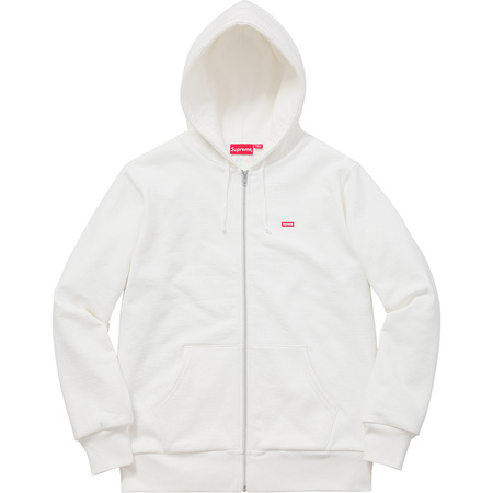 Small Box Thermal Zip Up Sweat (White)
